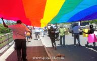 Homosexuals march openly in montego bay april 7, 2010.